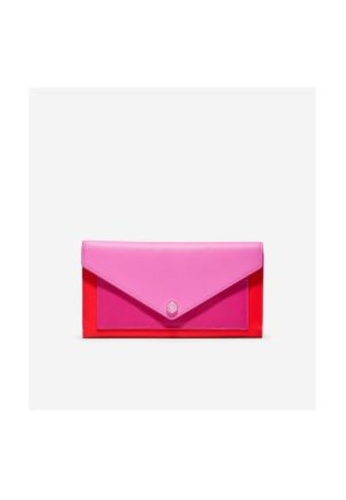 Cole Haan pink Cole Haan Color Block Flap Wallet - Fuchsia Red Colorblock 3AC58AC618E0EBGS_1