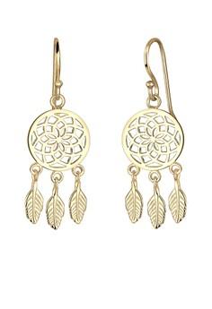 Elli Germany-Gold Plated Dreamcatcher Earrings