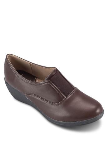 雙縫線楔型esprit專櫃跟鞋, 女鞋, 厚底楔形鞋