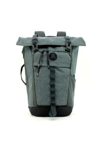 MORAL grey Nighthawks Roll Top Backpack - Heather Grey 4C9B2AC92C4AE5GS_1