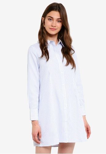 Something Borrowed white Collared Shirt Dress B0CE3AA34E4FF4GS_1