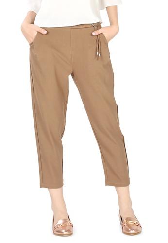 London Rag brown Light Brown Regular Fit Trousers 9509EAA39D7237GS_1