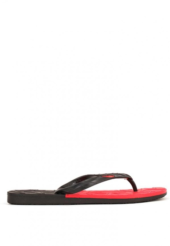 World Balance black and red Sun Trooper Mens Slippers AFF72SH2A34184GS_1