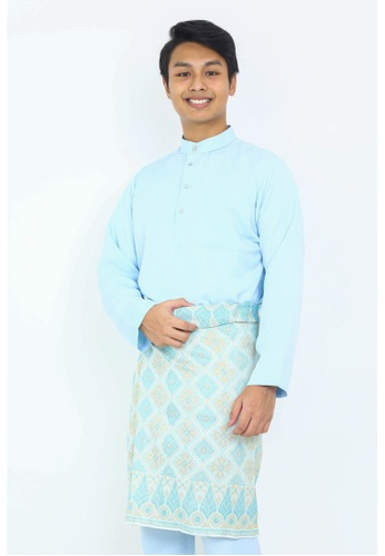 STARVILION 藍色 Carlo Baju Melayu 99543AAC0711F9GS_1