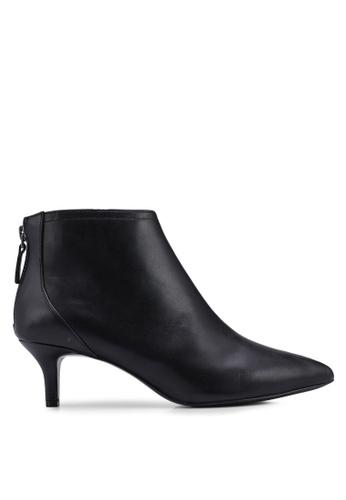Mango 黑色 低跟皮革踝靴 39EA0SH38A7FDBGS_1