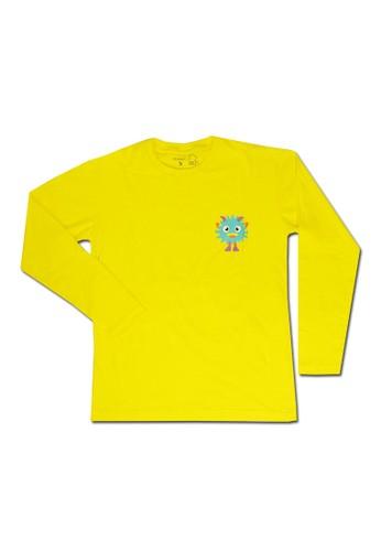 Pop Kidswear yellow Pop Kidswear Monster Squad Yellow Adult (Long Sleeves) Tee - kaos monster series 3BB99AA9DE4A5DGS_1