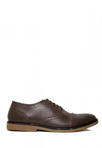D-Island brown D-Island Shoes Long Wingtip Oxford Vintage Leather Dark Brown 01318SHAA3E2F6GS_1
