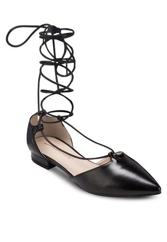 纏繞繫帶平底鞋, 女鞋,esprit台灣門市 芭蕾平底鞋