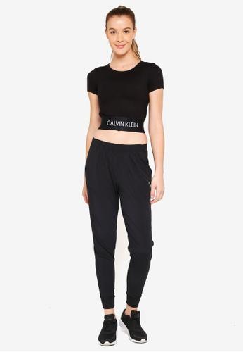 Calvin Klein black Woven Sweatpants - Calvin Klein Performance 321C6AA712EB8FGS_1