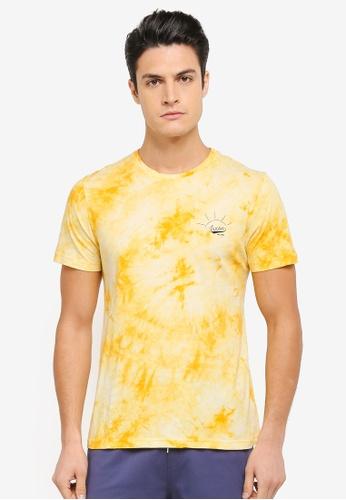 JAXON yellow Summer Logo Tee 8AEFAAAC06A77BGS_1