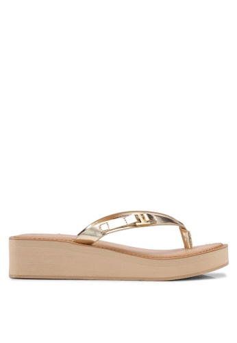 ALDO gold Eowoevia Wedge Sandals 88DA6SH94D1807GS_1