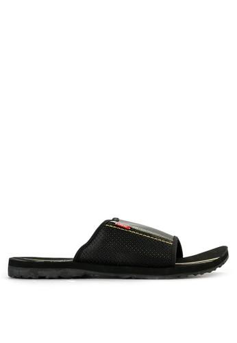 CARVIL black Carvil Sandal Sponge Man Kendari Black Olive 3A721SH901FCB6GS_1