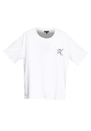 Sparrow Green white and multi Shull Shadow Skull-Head T-Shirt 4502CAA6BDDE6EGS_1