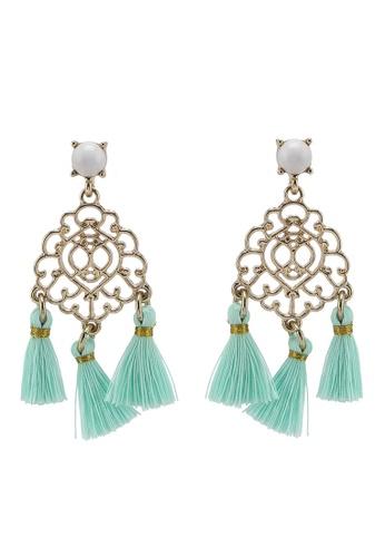SUGARFIX by BaubleBar - Gold Filigree Tassel Drop Earrings