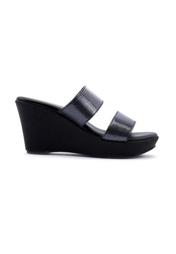 Unifit black Glittering Wegde Sandal B9374SH31110B1GS_1