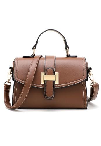 Halo brown Vintage Three Way Crossbody Bag A7245ACB9FF233GS_1