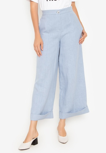 the___edit blue George Linen Pants 08F58AA7BEB972GS_1