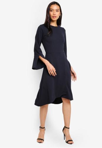1c14d019152922 Buy CLOSET Long Sleeve Wrap Skirt Dress Online on ZALORA Singapore