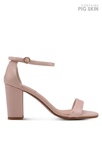 BETSY pink Block Heel Sandals 32747SHDC79992GS_1