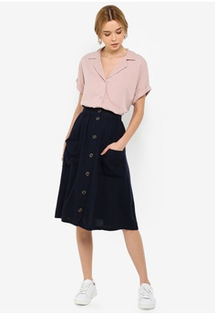 212e44cb6f57b JACQUELINE DE YONG Kalifa Pocket Skirt S  49.00. Sizes 34 36 38 40 42