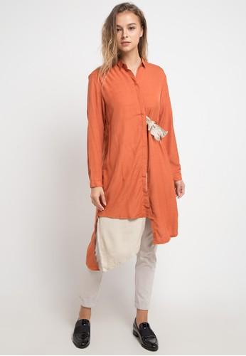 Logo Jeans orange Tunic Logo 2 Shirt 4EA8FAAA473EF9GS_1