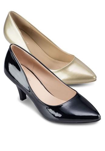 二入組Charlotte 經典仿皮高跟鞋, 女zalora 台灣鞋, 厚底高跟鞋