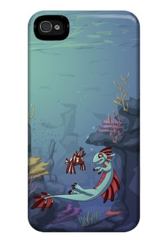 Bakunawa and Leo Glossy Hard Case for iPhone 4, 4s