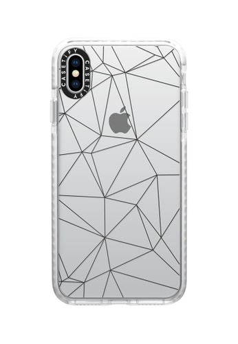 Casetify white Geometric Lines Impact Protective Case for iPhone XS Max 40518ACD514B50GS_1