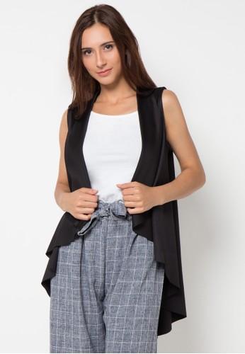 B.L.F black Amber Knit Vest BL612AA67IUIID_1