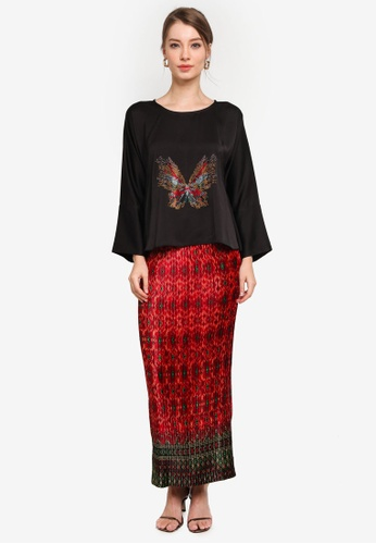 Yans Creation black and red Kekupu Kurung C2DD1AA1836D2CGS_1