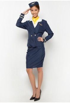 Karnival Flight Attendant Costume for Women