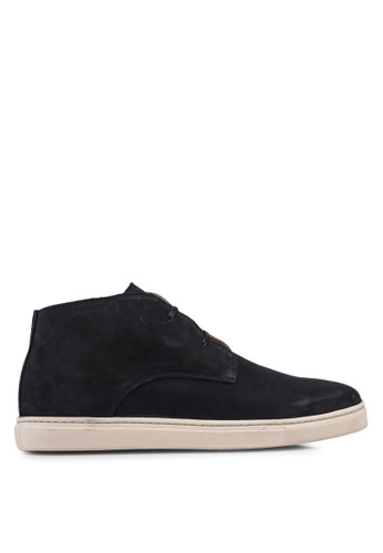 Selected Homme black Chukka Nubuck Trainer B5145SHFFFF581GS_1