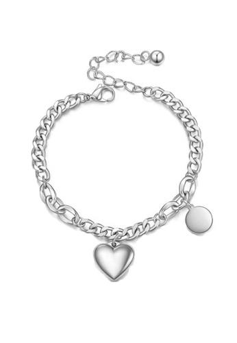 CELOVIS silver CELOVIS - Desiree Heart Bijoux Pendant with Round Tag Bracelet in Silver 46E10AC45A4C82GS_1