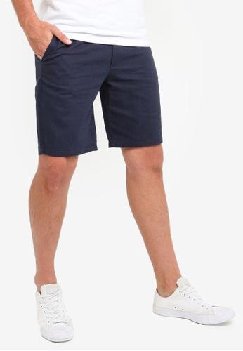 Only & Sons 藍色 亞麻短褲 A644AAAE8DE869GS_1