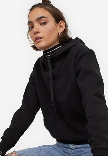 H&M black Hooded Top 7A081AAAFCB88EGS_1