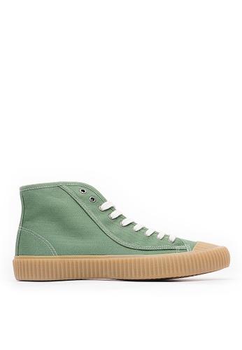 Life8 green Men&Women Casual American Canvas High-Top Shoes-09848-Green 7D5D2SHBBBF62DGS_1