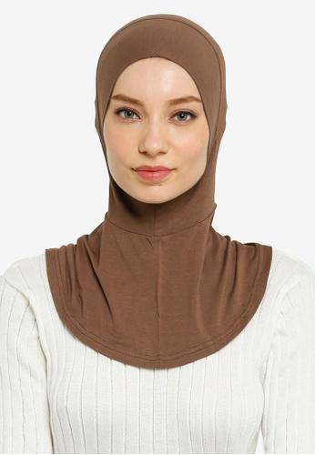 Hijabii brown Yara Full Neck Inner in Coffee A28D3AAE027F75GS_1