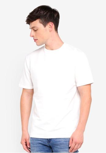MANGO Man white Essential Cotton-Blend T-Shirt 59311AA3DDD350GS_1