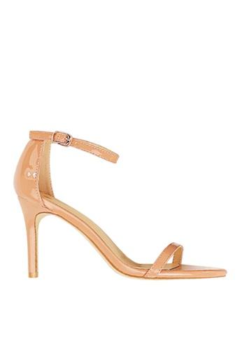 Twenty Eight Shoes beige Shiny Single Strap Heel Sandals VS126A10 7CDE5SH28EEF63GS_1
