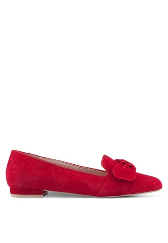 Dune London red Softy Bow Flats 6EF6ASHA583DB7GS_1