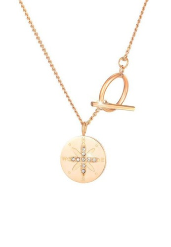 CELOVIS gold CELOVIS - Astra Star with Zirconia Round Disc Toggle Chain Necklace in Rose Gold 1AE34AC3FC6DBEGS_1