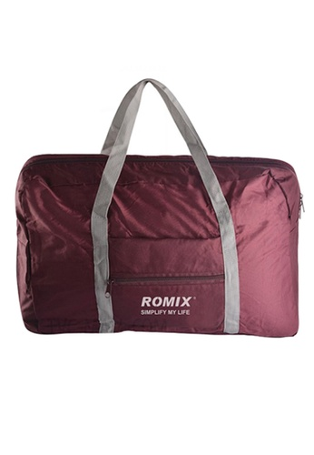 Fashion by Latest Gadget red Romix Rh43 Foldable Water Resistant Nylon Travel Luggage Bag 2B629ACEB89416GS_1