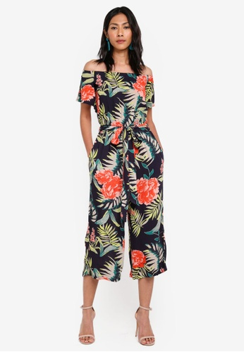 c53bcc534dc Dorothy Perkins navy Navy Large Tropical Jumpsuit FCD3FAACDF7A0FGS 1