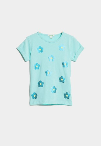 Bossini blue Bossini Kids Girl T-Shirt Fsh Turq (64085006058) 7C297KA8454098GS_1