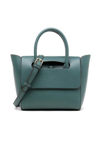 Lara green Business Women's Plain PU Leather Flap Shoulder Bag - Green E4003ACBC5EB8CGS_1