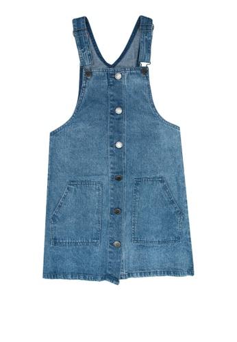 FOX Kids & Baby blue Overall Denim Dress CB34CKA43591C4GS_1