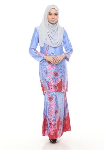 Kurung Modern Iwani (Light Blue) from Nur Shila in Blue