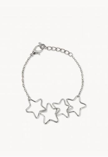 22ba59477b9 Buy Pomelo Star Chain Bracelet - Silver | ZALORA HK