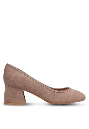 ZALORA brown and beige Chunky Heels 4D223SH3B9CACDGS_1