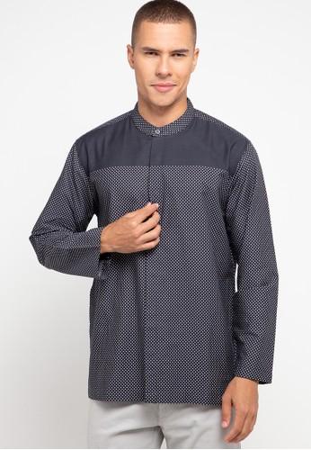 Zehavi grey Tahfiz Printed Long Sleeve Koko 63E3DAADC18FADGS_1